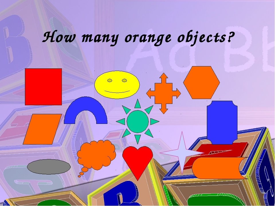 How many orange objects?