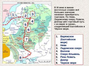 Варяжское (Балтийское море) Нева Ладожское озеро Волхов Озеро Ильмень Река Л
