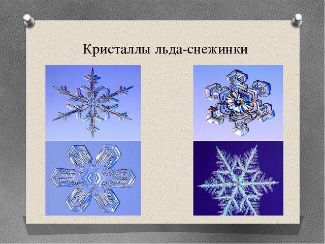 Кристаллы льда-снежинки