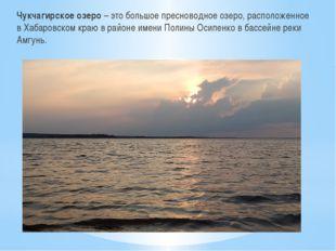 Чукчагирское озеро – это большое пресноводное озеро, расположенное в Хабаровс