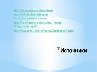 Источники https://ru.wikipedia.org/wiki/Амур http://wiki.iteach.ru/index.php/