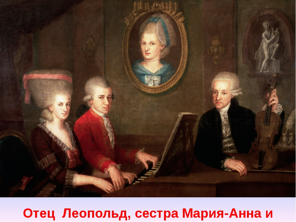 Отец Леопольд, сестра Мария-Анна и Вольфганг
