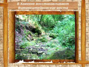 В Каменке восстанавливают Витгенштейновские места