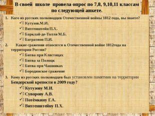 Кого из русских полководцев Отечественной войны 1812 года, вы знаете? Кутузов