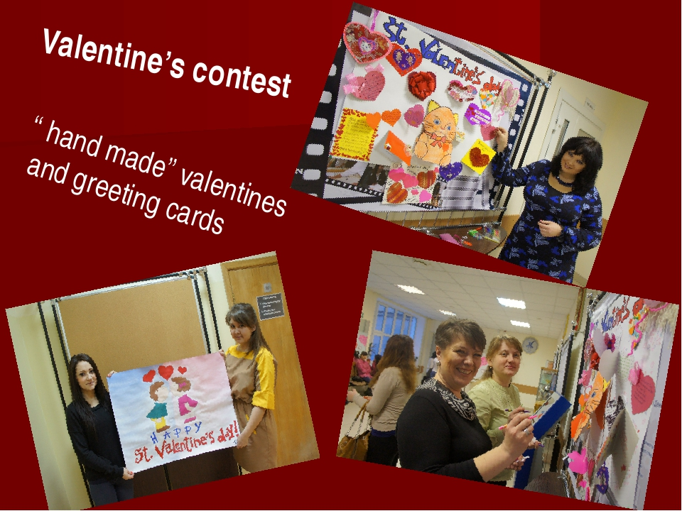 "Valentine's contest "" hand made"" valentines and greeting cards"