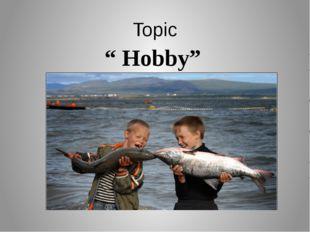 """Topic """" Hobby"""""""