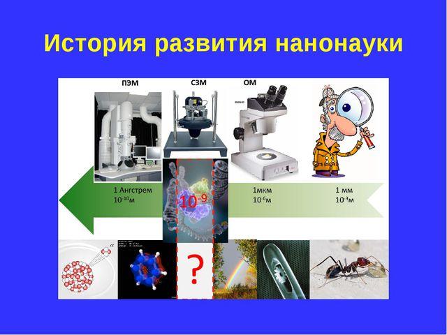 История развития нанонауки