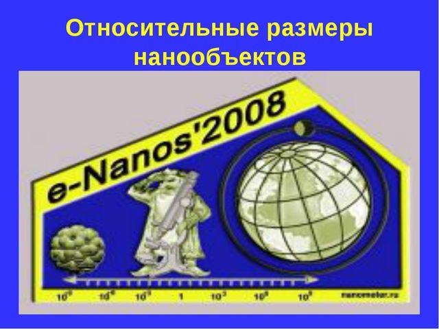 Относительные размеры нанообъектов