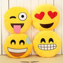 Emoji подушка смайлик лицо выражение круг подушка для дома подушка наполненный плюш мягкий тёплый игрушка для дома украшение подушка GM25(China (Mainland))