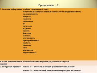 Продолжение …2 5. Источник информацииучебник «экономика» 8 класс. Раздаточны