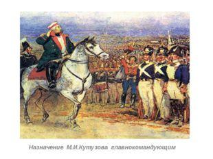 Назначение М.И.Кутузова главнокомандующим