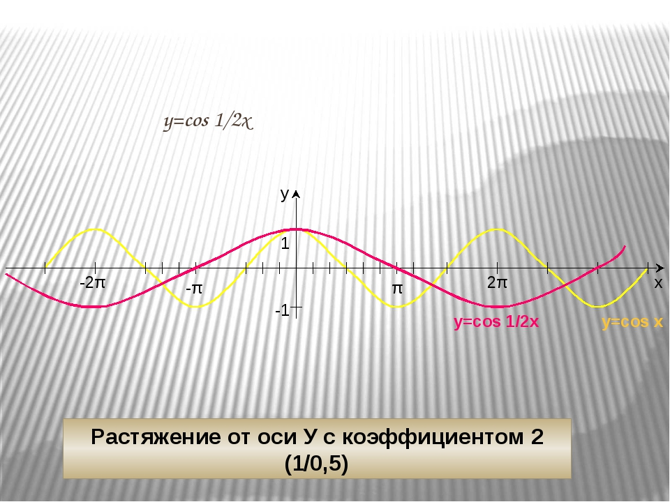 х у 1 -π y=cos 1/2х