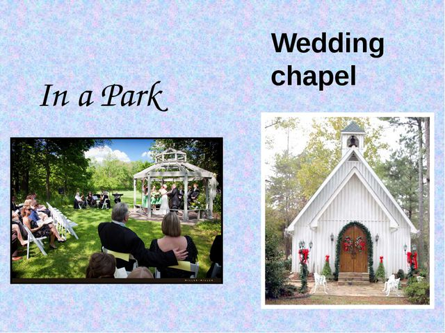 In a Park Wedding chapel