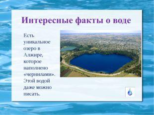 Есть уникальное озеро в Алжире, которое наполнено «чернилами». Этой водой даж