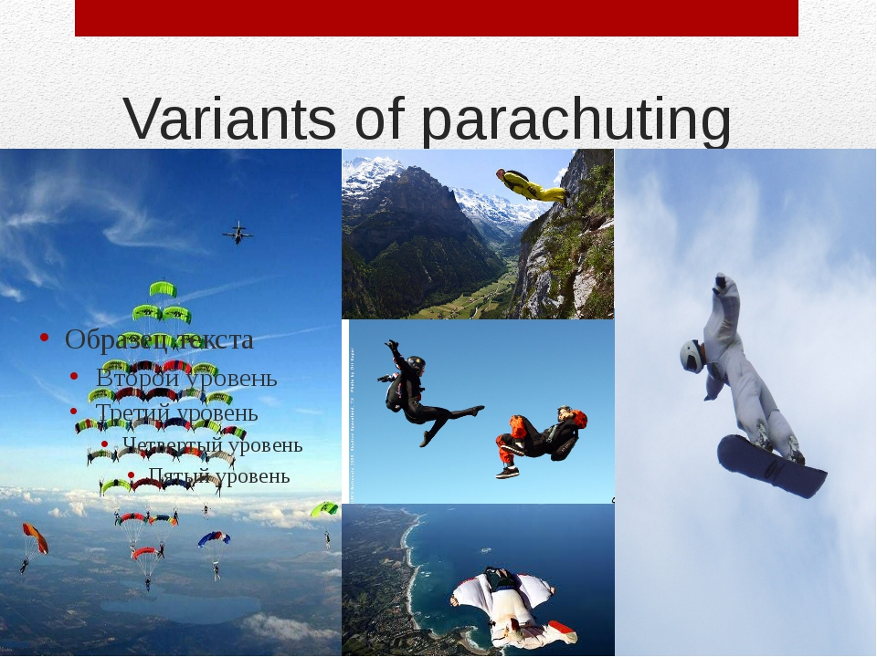 Variants of parachuting