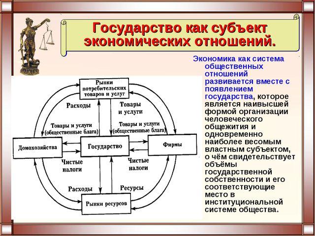 Экономика как система общественных отношений развивается вместе с появлением...