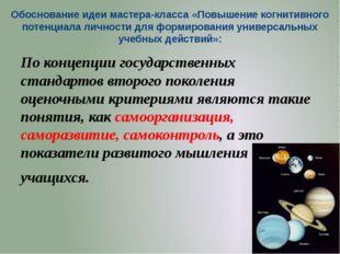 Обоснование идеи мастера-класса «Повышение когнитивного потенциала личности д