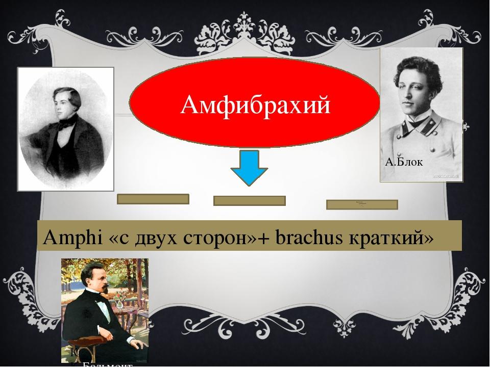 Амфибрахий Amphi «с двух сторон»+ brachus краткий» А Майков А.Блок К К.Бальм...