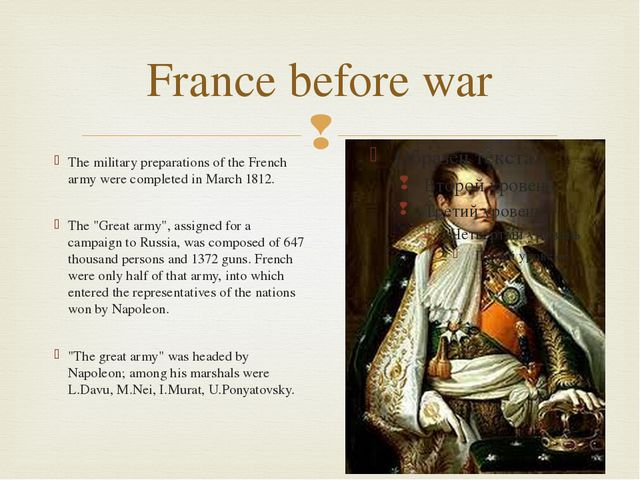 France before war The military preparations of the French army were completed...