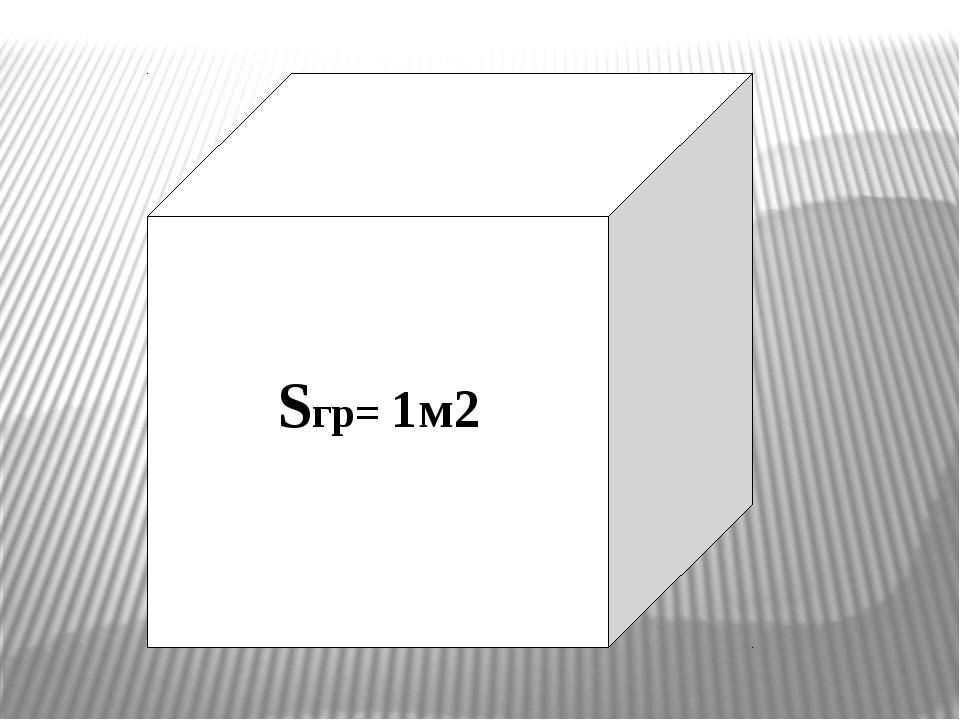 Sгр= 1м2