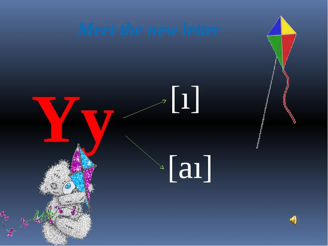Meet the new letter Yy [ı] [aı]