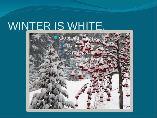 WINTER IS WHITE.