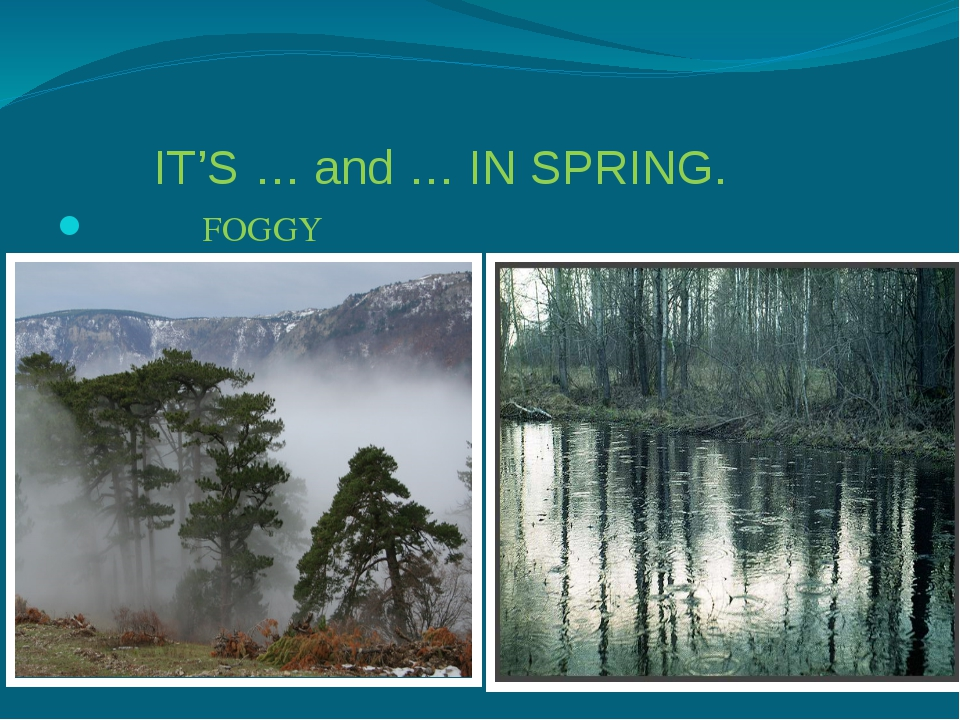 IT'S … and … IN SPRING. FOGGY RAINY