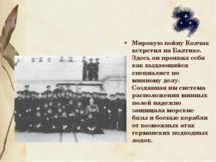 Мировую войну Колчак встретил на Балтике. Здесь он проявил себя как выдающийс