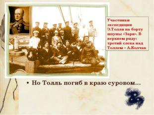 Но Толль погиб в краю суровом… Участники экспедиции Э.Толля на борту шхуны «З