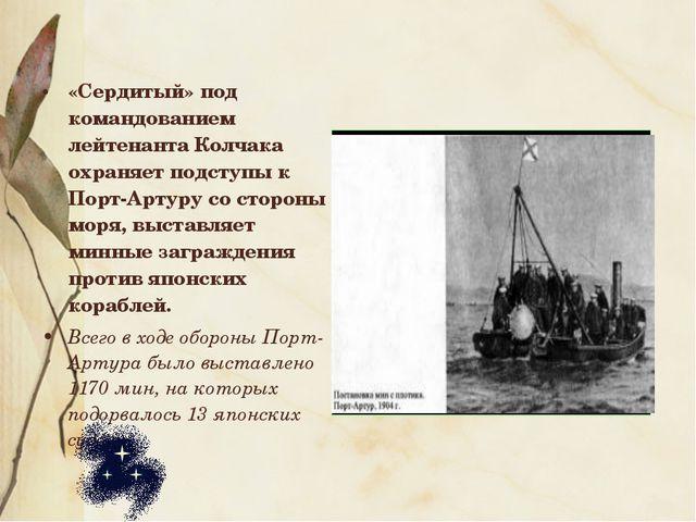 «Сердитый» под командованием лейтенанта Колчака охраняет подступы к Порт-Арту...