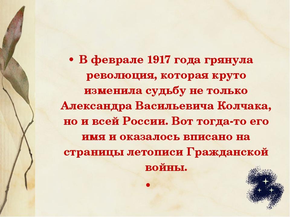 В феврале 1917 года грянула революция, которая круто изменила судьбу не тольк...