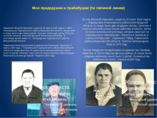 Мои прадедушки и прабабушки (по папиной линии) Карманов Николай Иванович, род