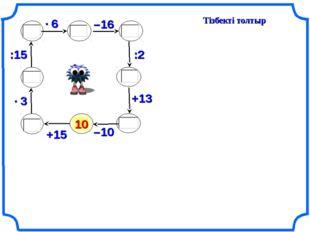 Тізбекті толтыр 10 :15 +15 –16 :2 +13 –10
