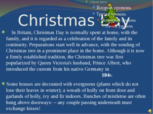 Christmas Day In Britain, Christmas Day is normally spent at home, with the f