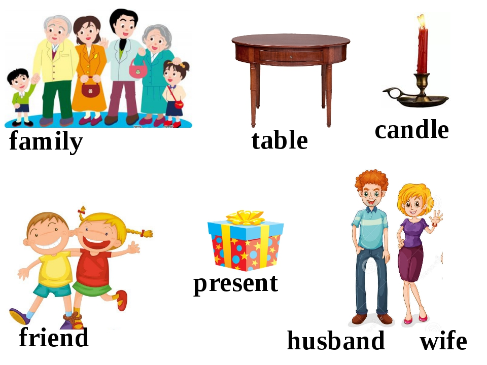 family table candle friend present husband wife