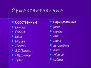 С у щ е с т в и т е л ь н ы е Собственные Енисей Россия Иван Москва «Волга» А