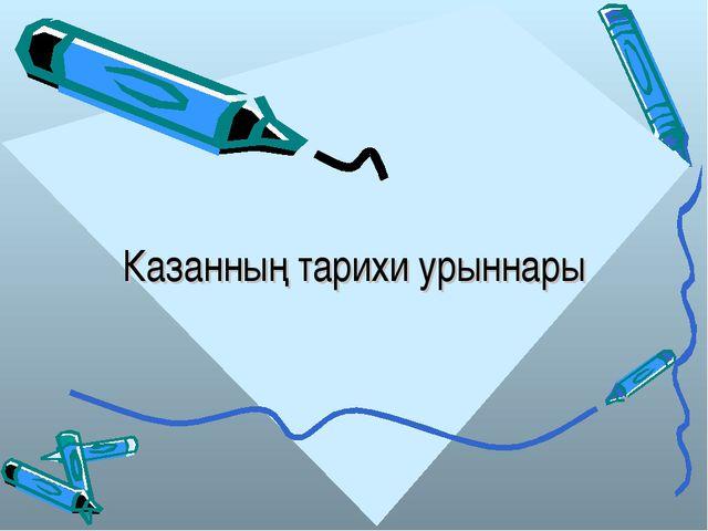 Казанның тарихи урыннары