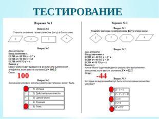 ТЕСТИРОВАНИЕ 100 -44