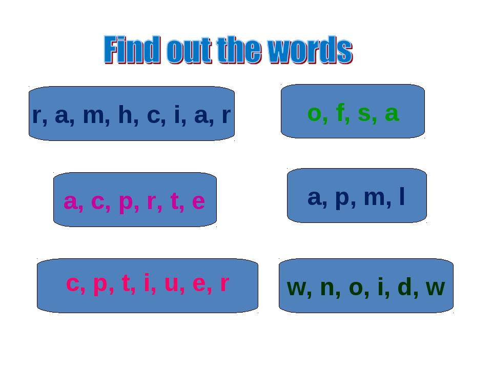 o, f, s, a r, a, m, h, c, i, a, r a, p, m, l a, c, p, r, t, e w, n, o, i, d,...