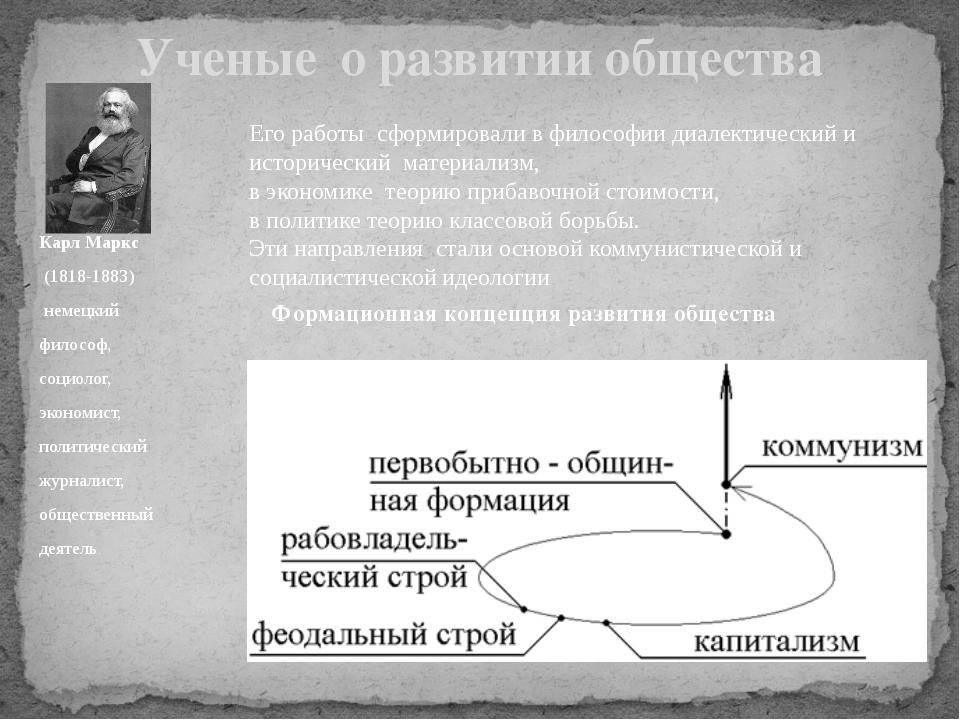 Карл Маркс (1818-1883) немецкий философ, социолог, экономист, политический жу...