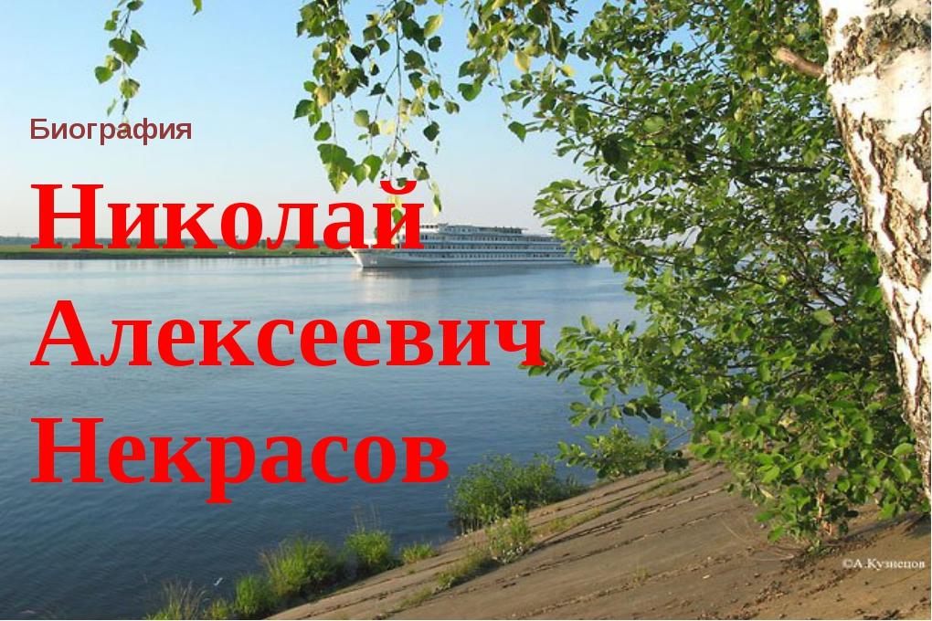 Николай Алексеевич Некрасов Биография