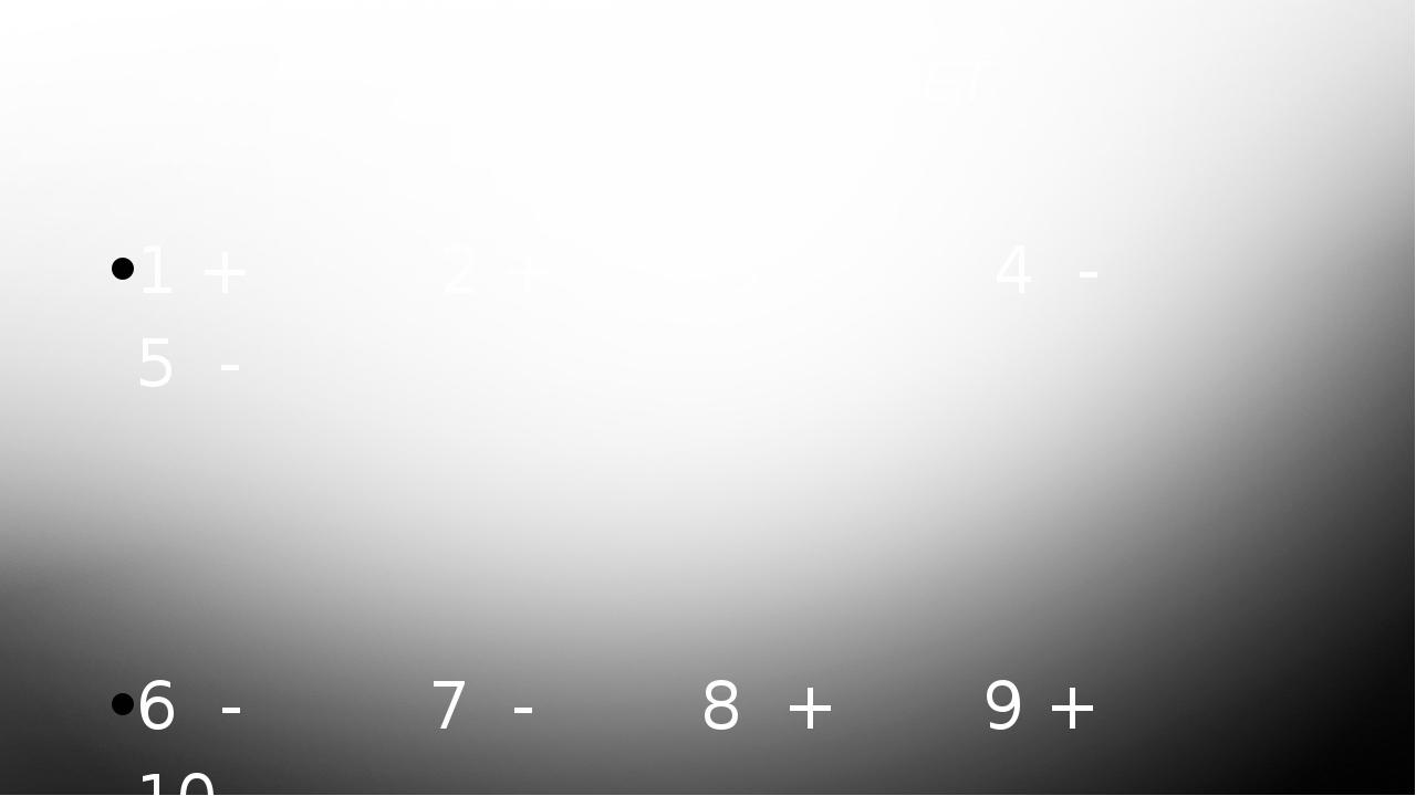 МОДЕЛЬНЫЙ ОТВЕТ 1 + 2 + 3 - 4 - 5 - 6 - 7 - 8 + 9 + 10 -
