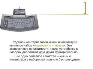 Удобной альтернативой мыши и клавиатуре является набор «клавиатура + мышь».