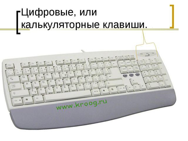 Цифровые, или калькуляторные клавиши.