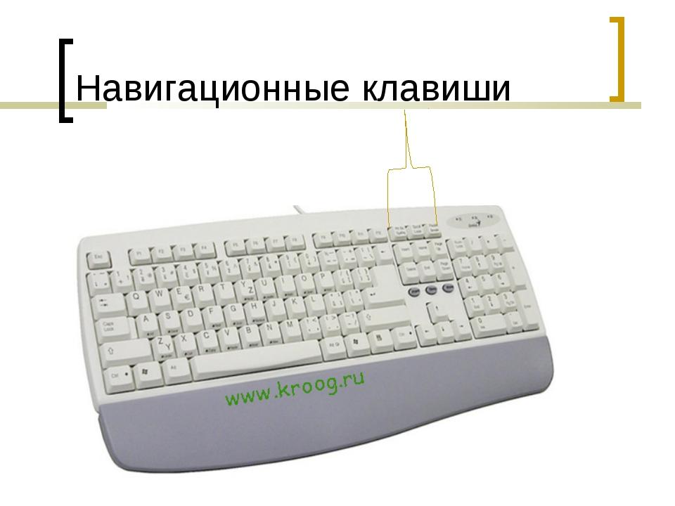 Навигационные клавиши