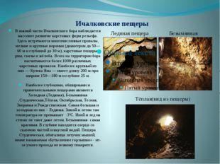 Ичалковские пещеры В южной части Ичалковского бора наблюдается массовое разви