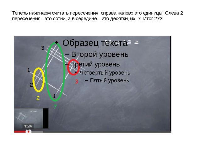 Теперь начинаем считать пересечения справа налево это единицы. Слева 2 пересе...