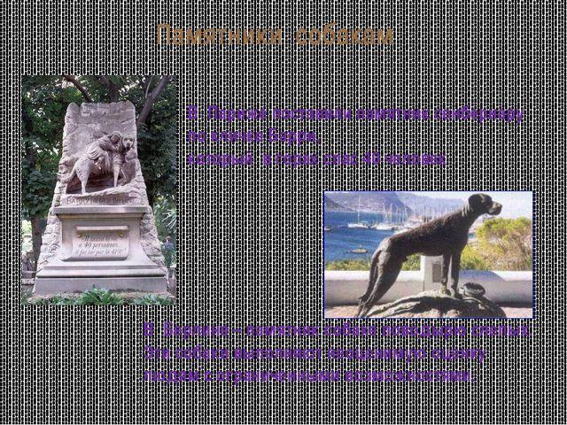 Памятники собакам В Париже поставили памятник сенбернару по кличке Барри, кот...