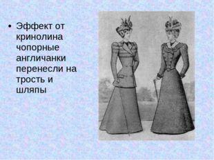 Эффект от кринолина чопорные англичанки перенесли на трость и шляпы