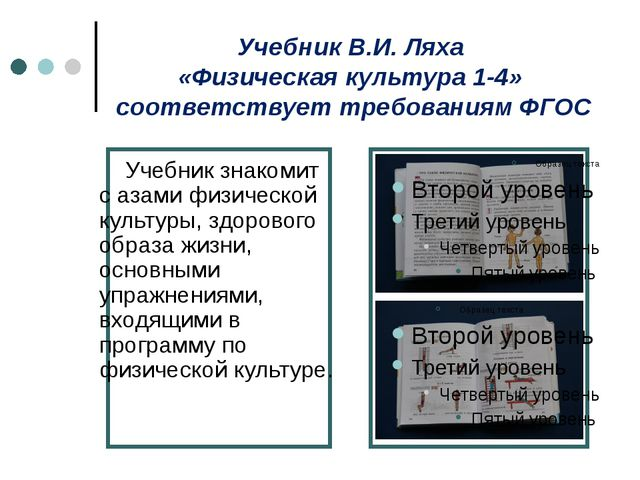 Учебник В.И. Ляха «Физическая культура 1-4» соответствует требованиям ФГОС У...